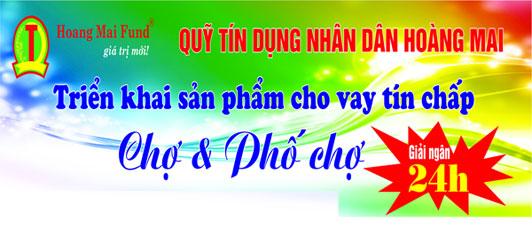 Sản phẩm Cho vay Tín chấp: Chợ & Phố Chợ